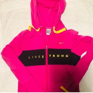 Rare NIKE Livestrong DryFit hooded zip-up